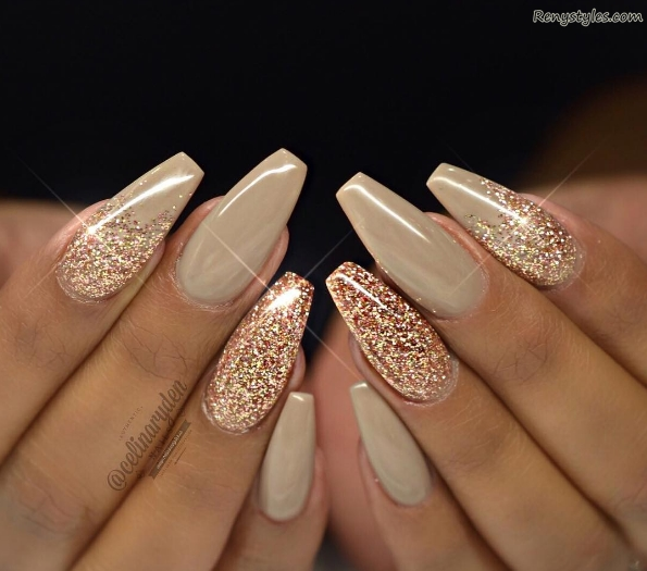 Amazing Glitter Nail Ideas for Girls 2017