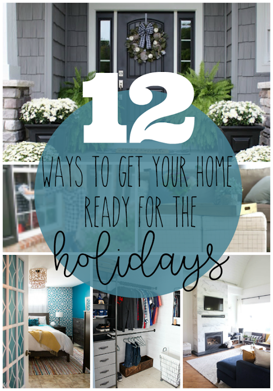 12 Ways to Get Your Home Ready for the Holidays #holidays #forthehome #organization