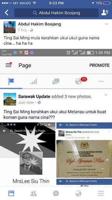 'Sarawak Update' Facebook page admins under investigation for offensive post