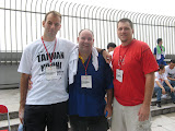 Bart, another friend, and Scott after climbing Taipei 101 - 91 storeys