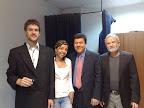 Junto a periodista y entrevistador colombiano Fernando Calderón España