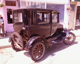 Black classic vintage car