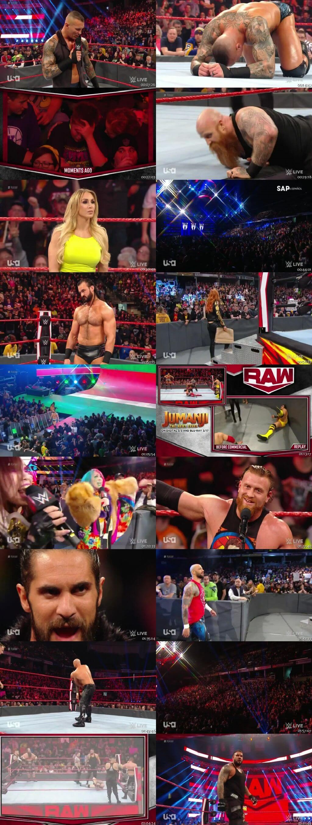 Screen Shot Of Wrestling TV Show WWE Monday Night Raw 17th February Watch Online Free Download