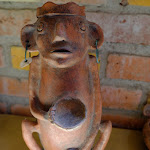Interesting pot at museum in Cuenca