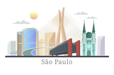 Estado e cidade de São Paulo png, museu, sol e prédios