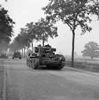 Cromwell tanks of the Welsh Guards. Date: September 18, 1944. Photographer: Willem van de Poll. Source: Dutch National Archive