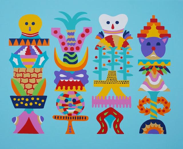 Zosen  Tropical Totems 80x63