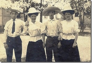 PICKARD_JamesFred_LINDSAY_Ellen_GOULD_HarryW_LINDSAY_Marie in hats_