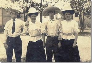 PICKARD_JamesFred_LINDSAY_Ellen_GOULD_HarryW_LINDSAY_Marie in hats_