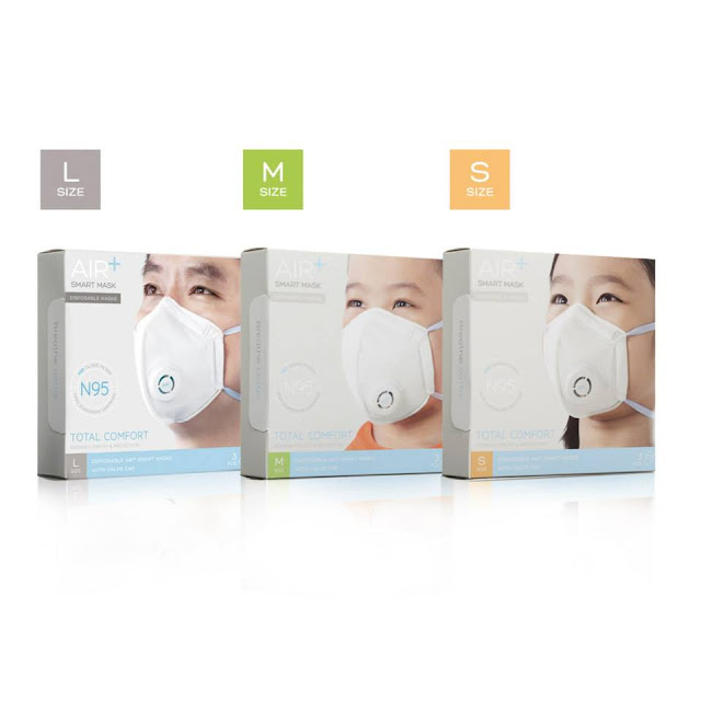 Air+ Smart Mask in - S, M and L sizes
