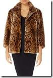 Michael Michael Kors Leopard Print Faux Fur Jacket