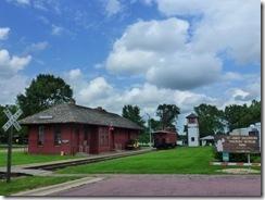 Closed railroad museum