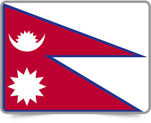 Nepali framed flag icons with box shadow