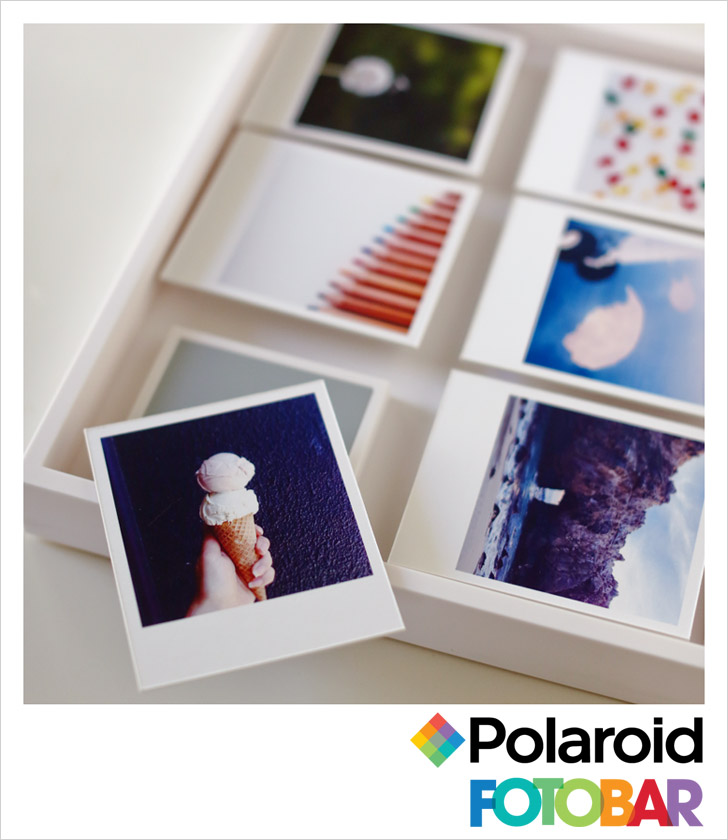 Shadowbox from the Polaroid Fotobar Las Vegas at the Linq.