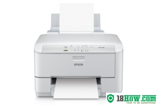 How to reset flashing lights for Epson WorkForce WP-4090 printer