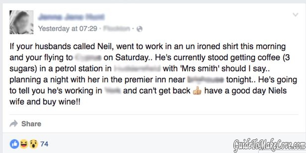 Man outed for affair on Facebook
