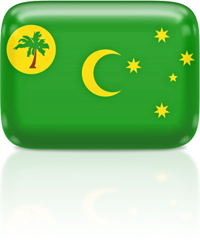 Cocos Island  flag clipart rectangular