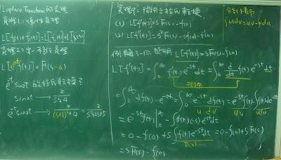 微分之拉氏轉換及證明