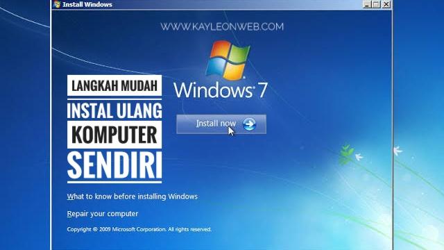 Langkah mudah instal ulang komputer sendiri