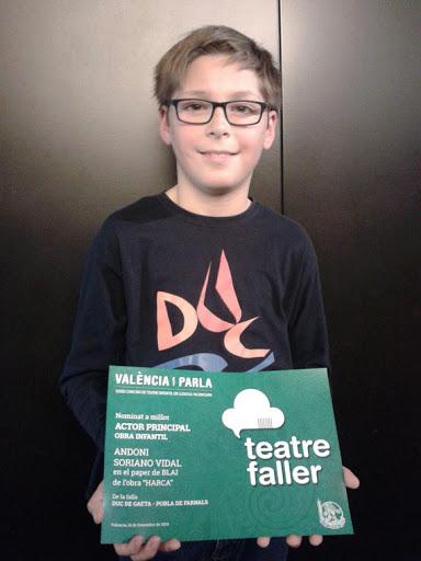 Andoni Soriano es nuestro único aspirante a premio en teatro infantil