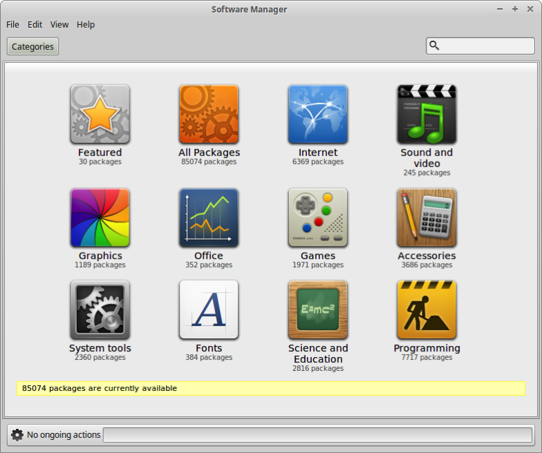 55 the GUI Software Manager screen