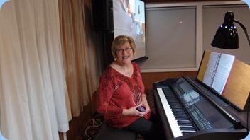 Kay Boyes played the Clavinova for us. Photo courtesy of Dennis Lyons.