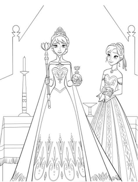 Free Printable Easter Coloring Pages For Girl Collections Disney Frozen