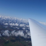 Over Billund på vej mod syd