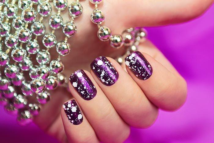 Snow Manicure nail art design