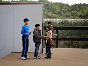 Photo: kids practicing skit