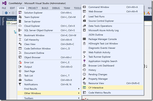 csharp-interactive-windows-visual-studio2015