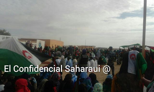 Resultado de imagen de manifestación saharaui en campamentos