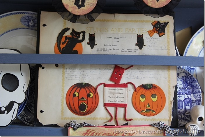 Halloween Decor - Vintage Scrapbook Sheet