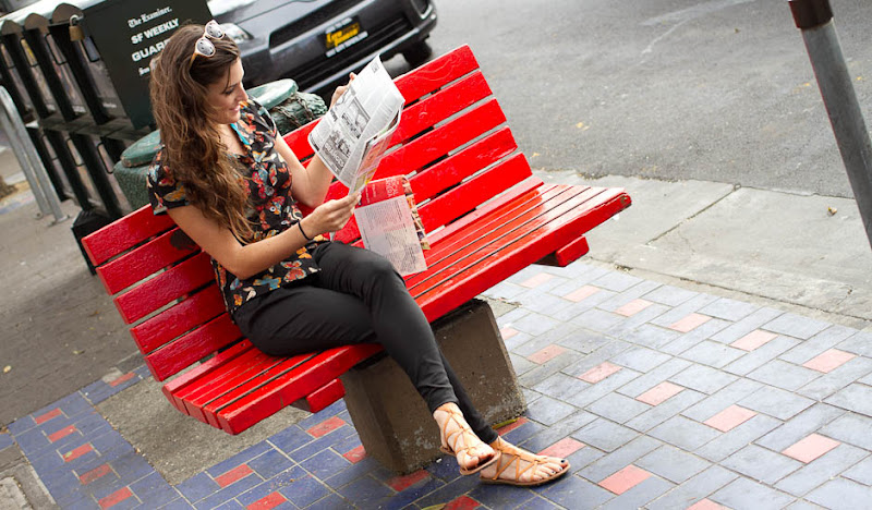 Women's Black DoD Britches Julia reads on bench