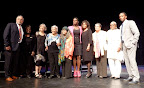 Sonia Sanchez at Dillard University for the Elizabeth Catlett tribute. Francisco Mora-Catlett (jazz drummer); Stella Jones (co-chair of tribute); Melanie Herzog (Professor & Chair of Art Dept. at Edgewood College); Leah Chase (chef and owner of Dooky Chase Restaurant); Sonia Sanchez; Danys Perez (dancer/choreographer); Brenda Square (archivist); Alvia Wardlaw (Professor and Founding Director at Texas Southern University); Vicki Meek (co-chair of tribute); Anthony Mackie (emcee at tribute, actor). (Photos by Ellie Meek Tweedy.)