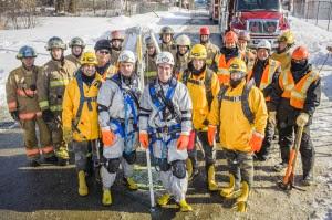 Une simulation de sauvetage réussi! / Source image: www.lentrenous.ca