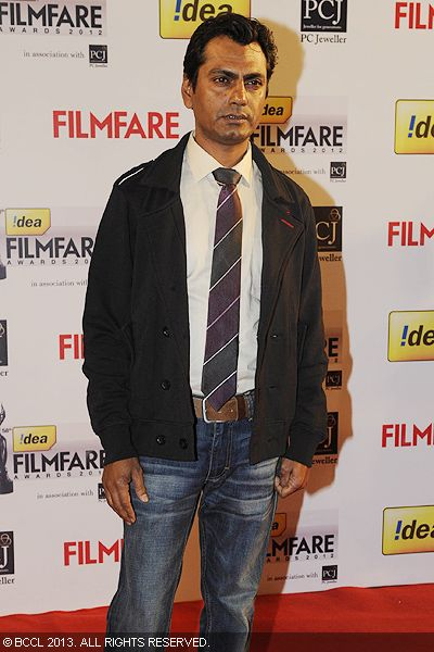 Nawazuddin Siddiqui arrived at the 58th Idea Filmfare Awards 2013, held at Yash Raj Films Studios in Mumbai.Click here for:<br />  58th Idea Filmfare Awards