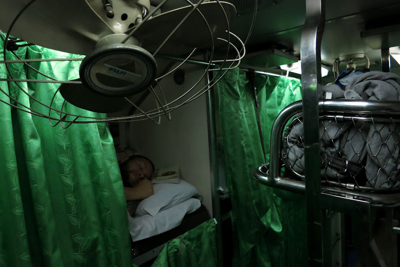 Night train bunks