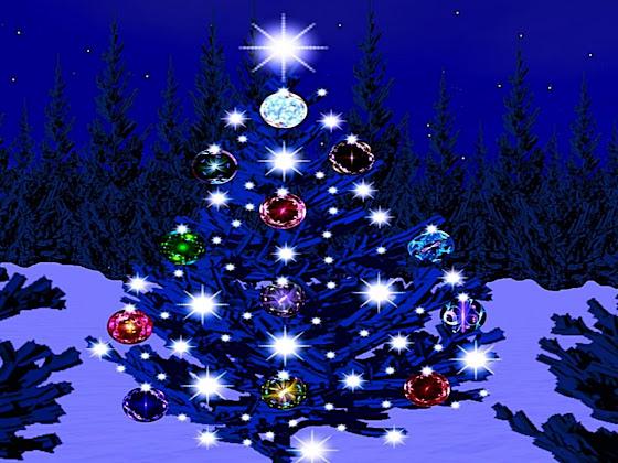 besplatne Božićne pozadine za desktop 1280x960 free download blagdani čestitke Merry Christmas šuma zvijezde jelke kuglice za bor