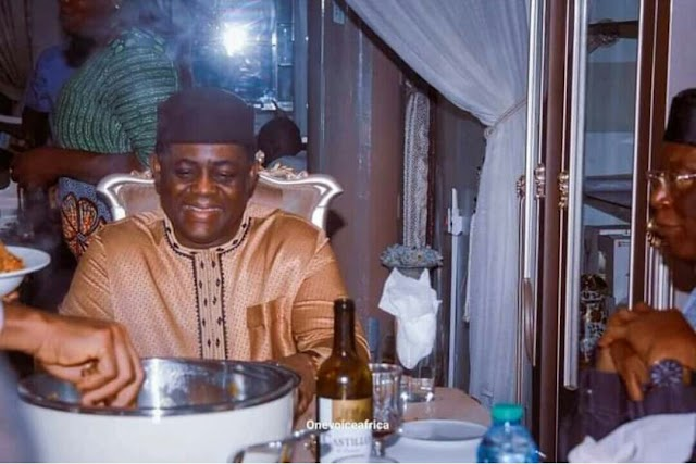 PHOTOS: Fani-Kayode dines at residence of another minister