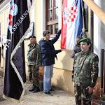 Jasenovac,Spomen ploča za poginule pripadnike HOS-a