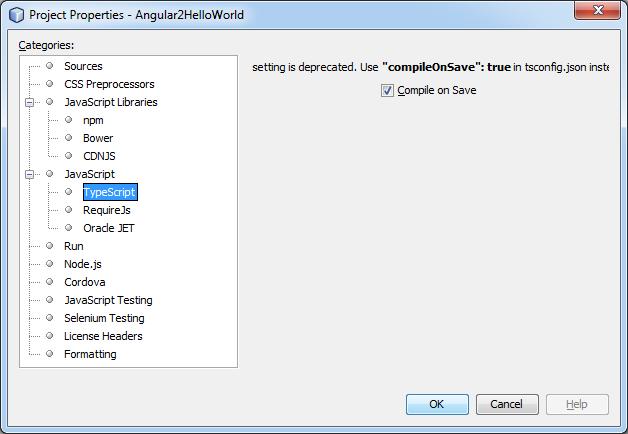 TypeScript Netbeans Configuration