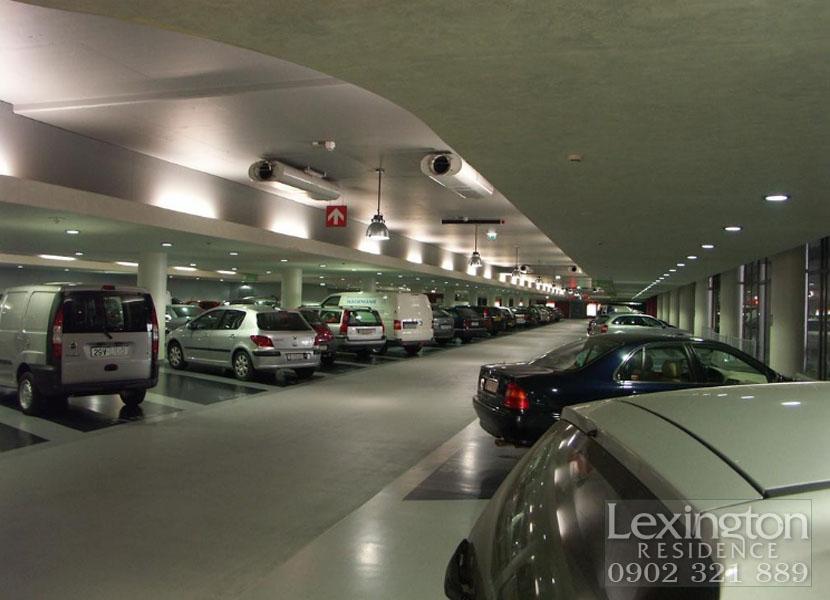 Bãi đậu xe dưới tần hầm tại căn hộ Lexington Quận 2