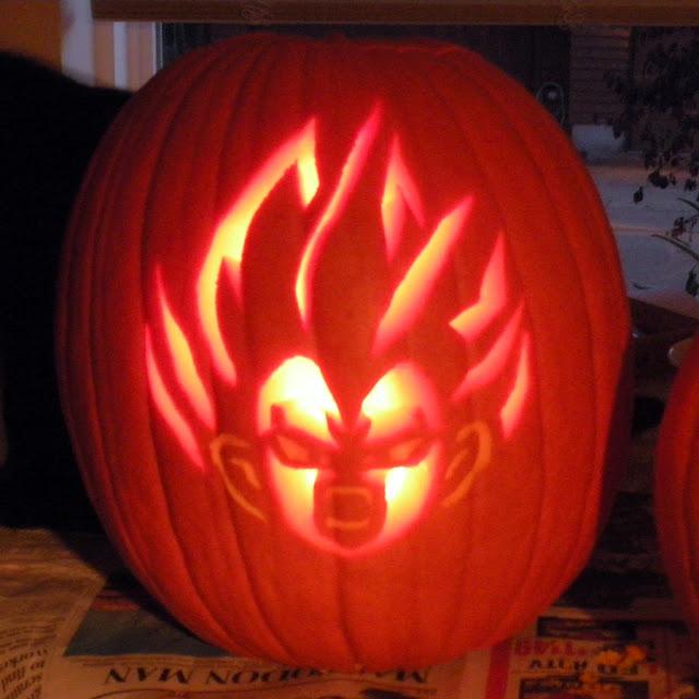Vegeta Pumpkin Carving