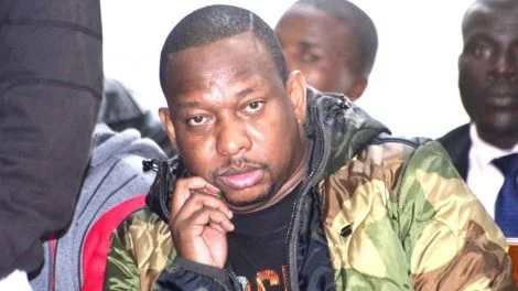 Mike Sonko in court over assault charges. PHOTO | NMG