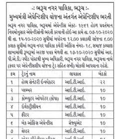 Bharuch Nagarpalika Recruitment for Various Post