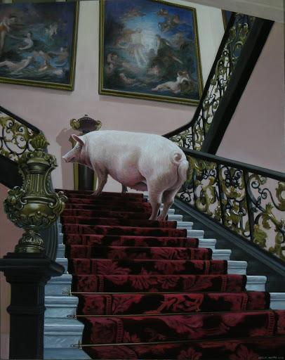 Grand Staircase. Artist Leslie Watts