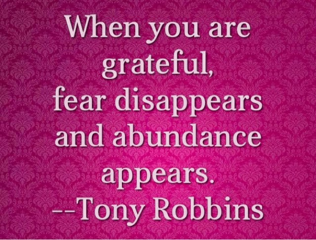 Tony Robbins quote on abundance
