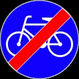 C-13a  koniec drogi dla rowerów  Znak oznacza koniec drogi przeznaczonej dla kierujących rowerami jednośladowymi.