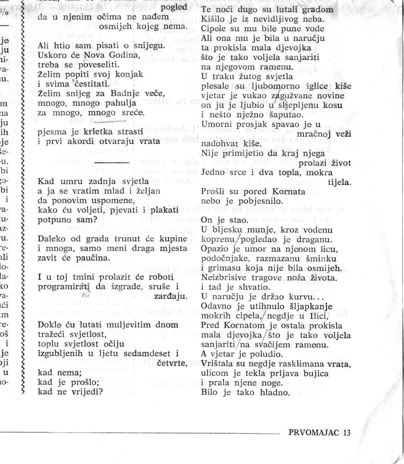 'Mladi pjesnici' - poezija Ivice Smoleca u novinama 1974. godine 2/2
